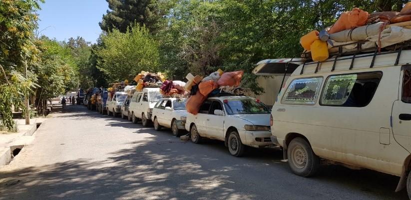 انتقال بیجاشدگان به محلات اصلی شان در بادغیس