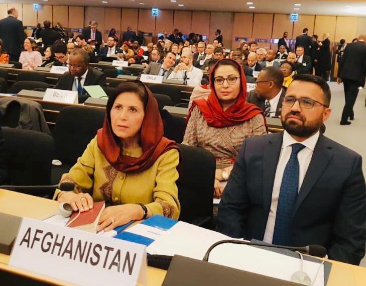 اشتراک معین امور پناهندگان وزارت به نمایندگی از دولت افغانستان در نشست جهانی پناهندگان