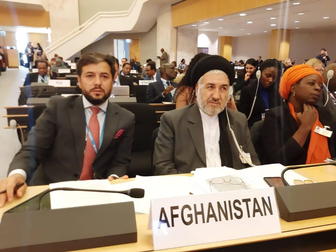 اشتراک وزیر امور مهاجرین در نشست سالانه کمیشنری عالی سازمان ملل متحد در امور پناهندگان به نمایندگی از دولت افغانستان