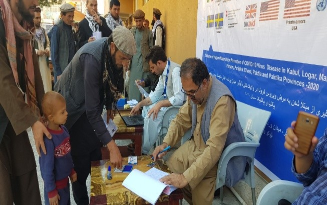 پروسه توزیع مواد بهداشتی برای 800 خانواده بیجاشده در ولایت پنجشیر روز گذشته، 29 سرطان، آغاز شد